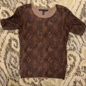 White House Black Market Snakeskin Top